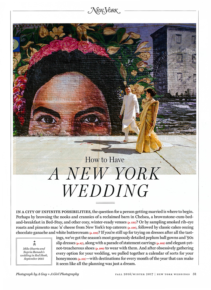 new york magazine a guy + a girl photo
