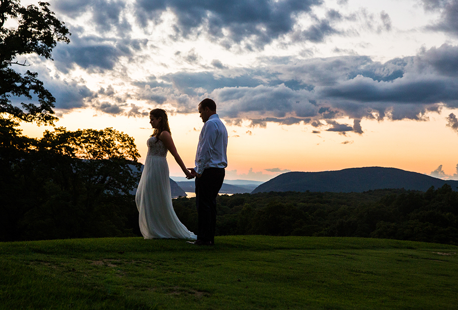 summer sunset candid wedding photography at the garrison in westchester new york