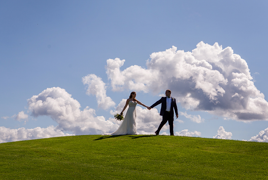 blue sky candid wedding photography at the garrison in westchester new york