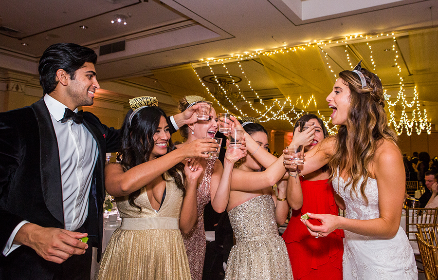 orthodox jewish wedding photography at Hilton pearl river new jersey on New Years eve