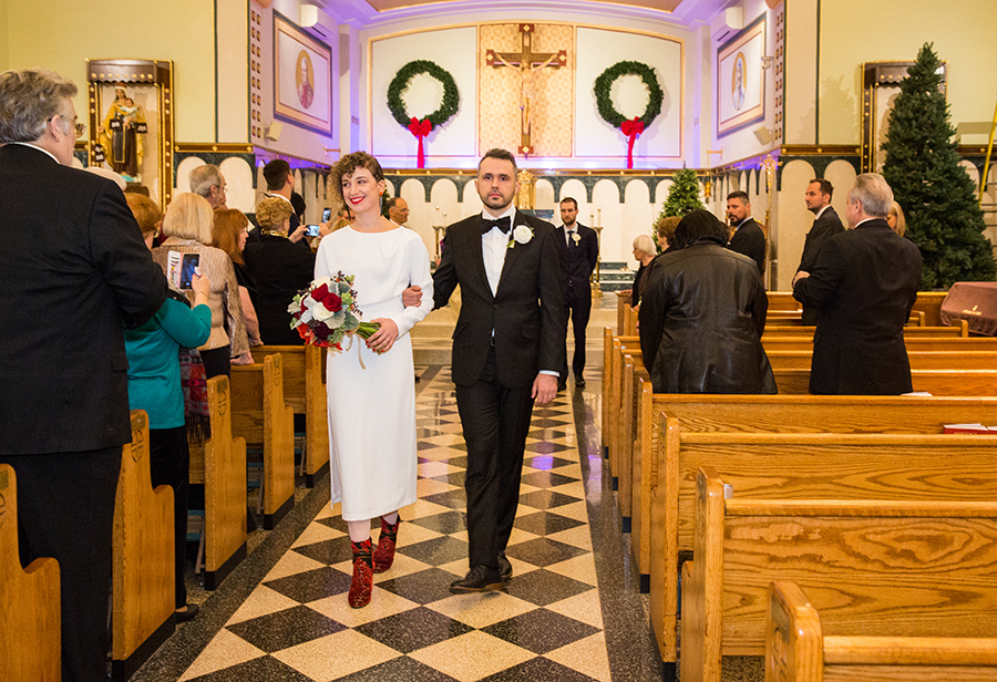 catholic modern wedding at the William vale hotel in Williamsburg brooklyn New York city